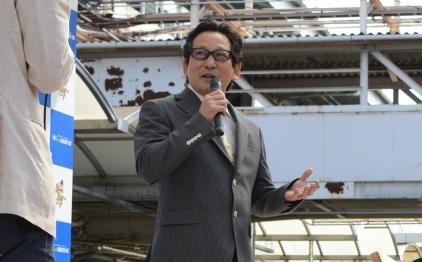 笠松競馬出身で中央競馬でも活躍した元騎手の安藤勝己さん=4月26日、岐阜県の笠松競馬場