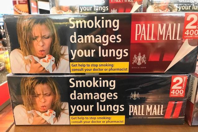 デンマークの免税店で売っていたタバコ