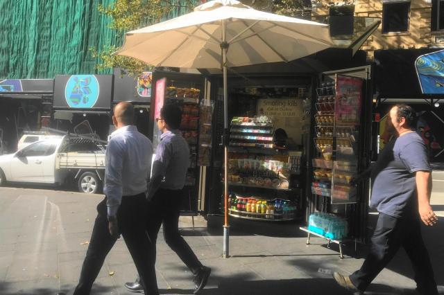 シドニーのタバコも売っている店