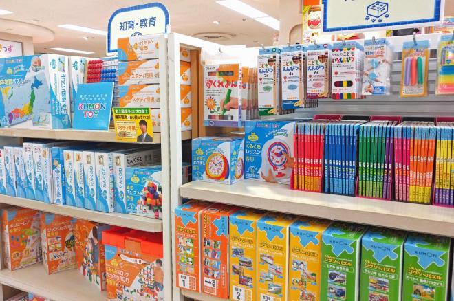 東武百貨店池袋店にあるくもん出版のコーナー