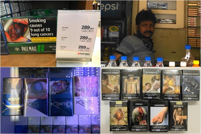 見ているだけで、気分が悪くなりそう…そんな画像をタバコのケースに載せる国もあります