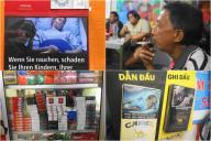 健康に対するタバコの害を、見てすぐ分かる画像でケースに載せている国も多くあります
