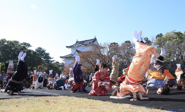 「金のしゃちほこの踊り」=名古屋城