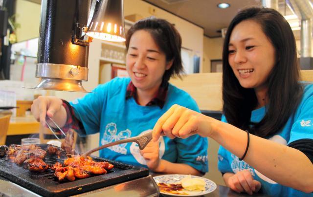 みそダレがついた鶏肉は焦げやすく、焼き加減に注意が必要です