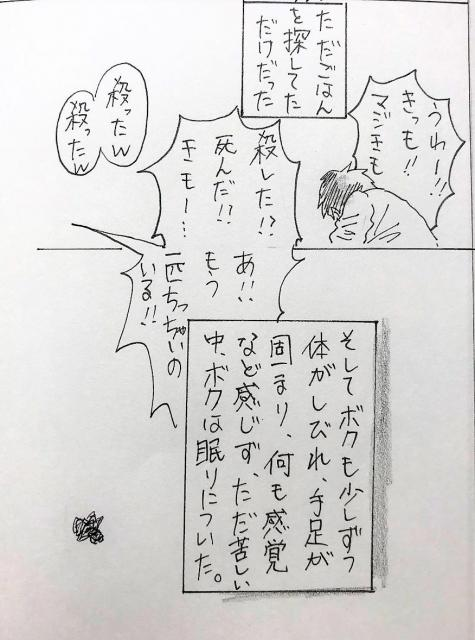 アシダカグモの親子が主人公の漫画。