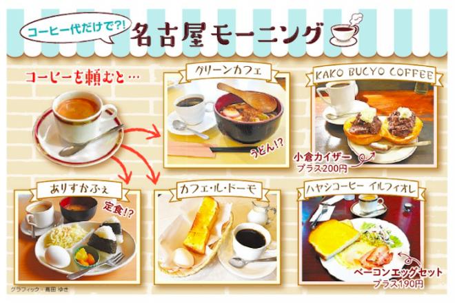コーヒー代だけで?!名古屋モーニング=グラフィック・高田ゆき