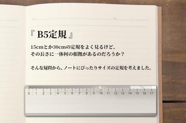 一般部門の優秀賞に選ばれた、眞保賢一さんの「B5定規」