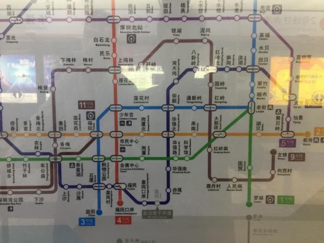 1999年に着工された深圳の地下鉄は現在すでに8路線が運行中。2040年を目標に20号線まで作る計画が発表されています