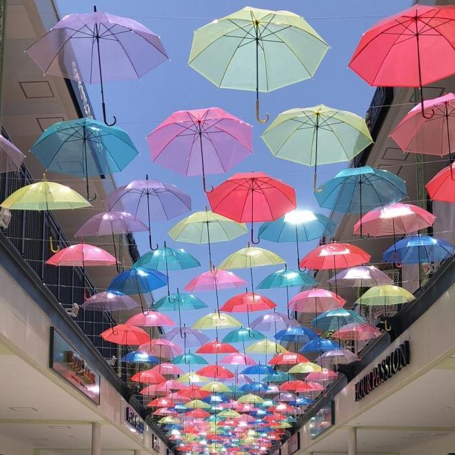 傘を使った企画「JAZZ KASA Art」