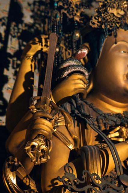 清水寺の大随求菩薩=2018年3月、京都市東山区、写真家・須藤和也さん提供