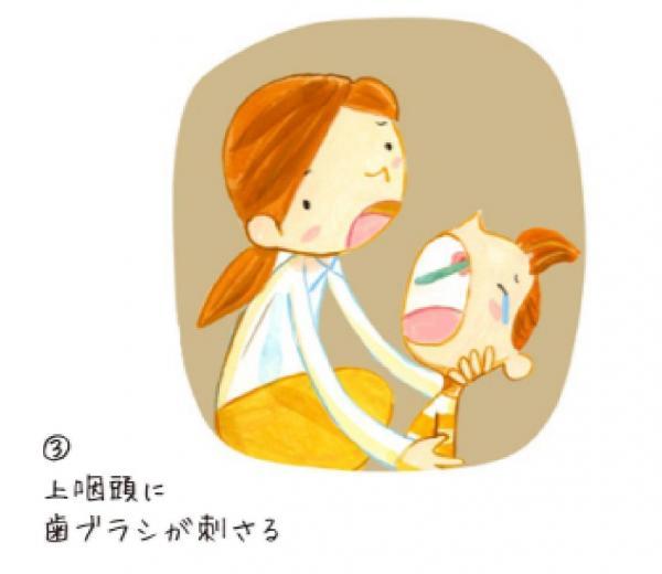 のどに歯ブラシが刺さる=NPO法人Safe Kids Japan「危険の科学 歯ブラシによる事故」から