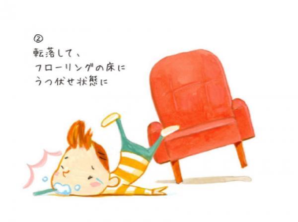 転落してしまう=NPO法人Safe Kids Japan「危険の科学 歯ブラシによる事故」から