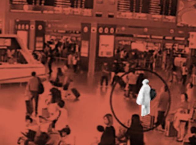 マレーシアの国際空港の監視カメラがとらえた金正男氏の姿=ロイター