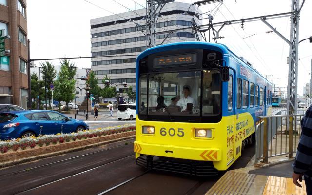 阪堺電車=2018年6月18日、小川詩織撮影