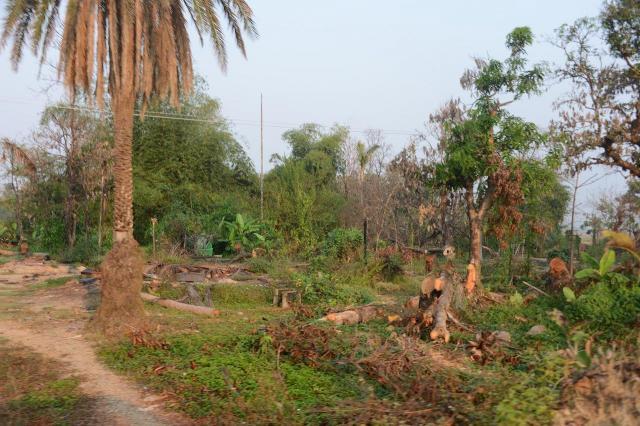 ミャンマー西部ラカイン州では、多くの焼け落ちた村が見られる。多くはイスラム教徒ロヒンギャの村だ=2018年3月