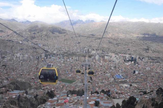 南米ボリビアの中心都市、ラパスのロープウェー