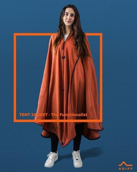 テントに変わるジャケットコート「着るテント」