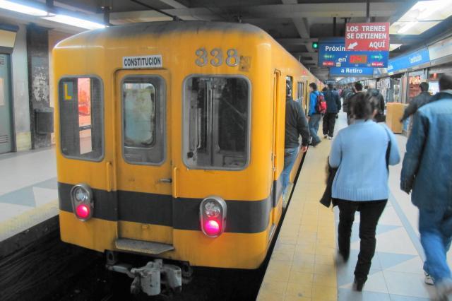 アルゼンチンの首都ブエノスアイレスの地下鉄