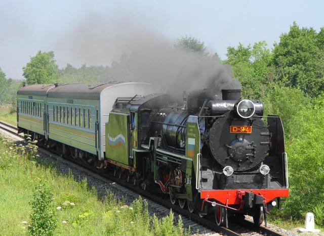 サハリンを走る蒸気機関車
