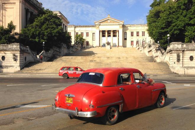 こちらもキューバのタクシー