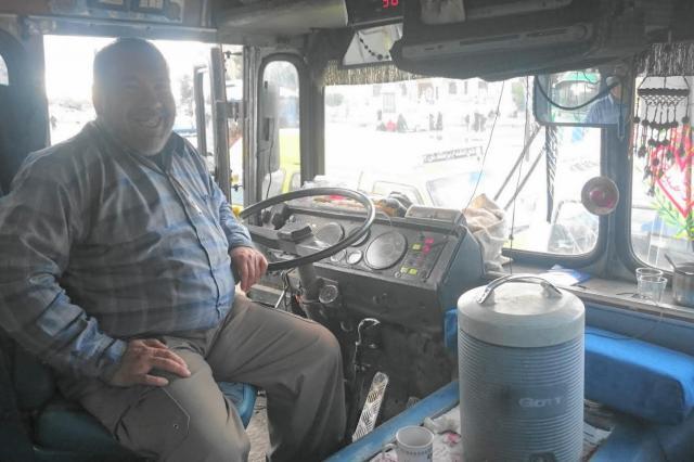 シリアのバス車内