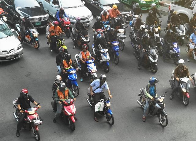 バンコクのモーターバイク