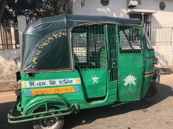 バングラデシュのオートリキシャ