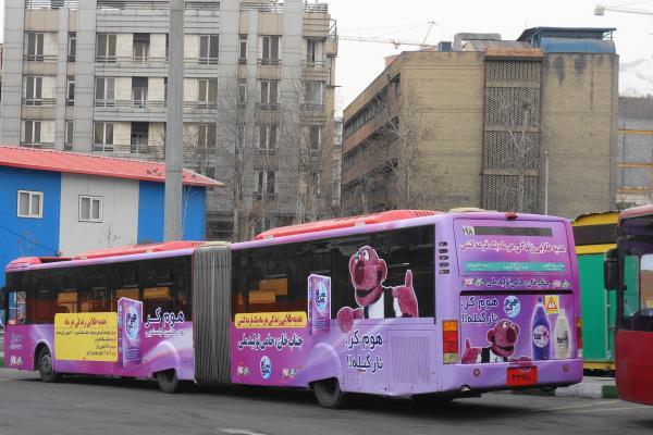 イランの連接バス