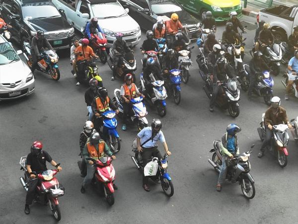 タイ・バンコクのモーターバイク