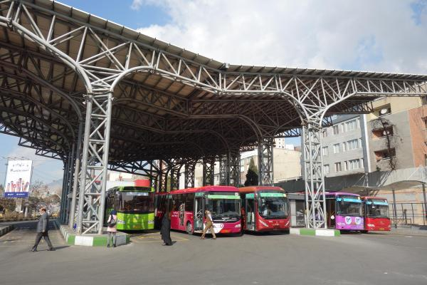 イランのバスターミナル