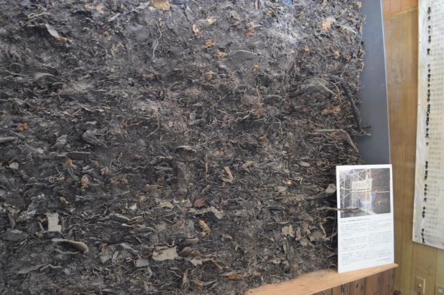 豊島のこころ資料館には、廃棄物の一部が保存されている
