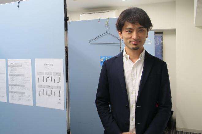 安田祐輔さん=キズキ共育塾大阪校