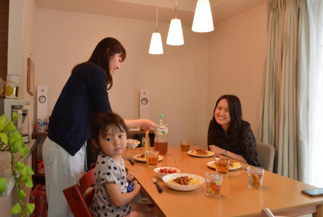 北村さんの自宅で昼食をいただいた