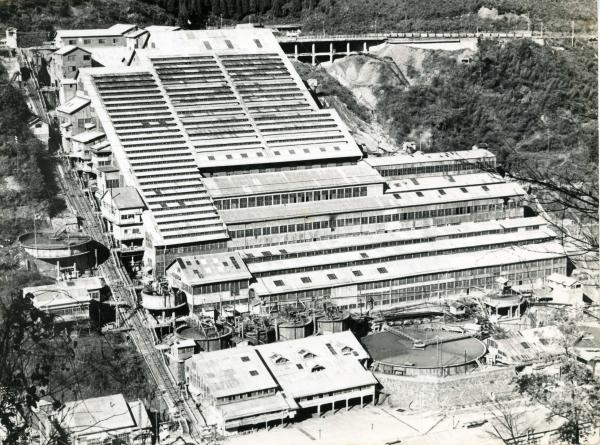 昭和30年代の神子畑選鉱場=兵庫県朝来市、朝来市教育委員会提供