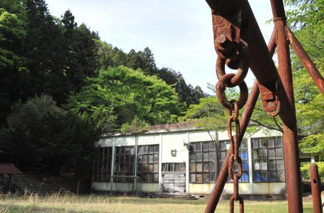 1972年に閉校した神子畑小学校跡