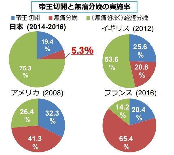 【産む痛み】「腹を痛めてこそ愛情が湧く」など、出産をめぐる価値観が綿々と残る日本。無痛分娩の実施数は国内で徐々に増えているが、5%ほど。4割のアメリカや6割のフランスと比べ、まだ少数派だ