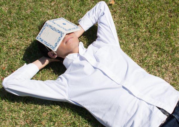 「本を頭にのせて寝るの、かっこいいな~」と思って作った、本みたいなアイマスク