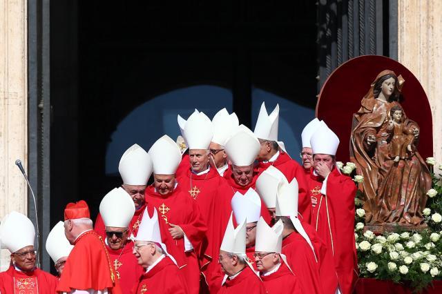 新たに就任した枢機卿ら=バチカン、2018年6月29日