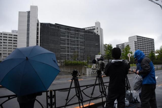 松本智津夫死刑囚が収容されていた東京拘置所=2018年7月6日、東京都葛飾区