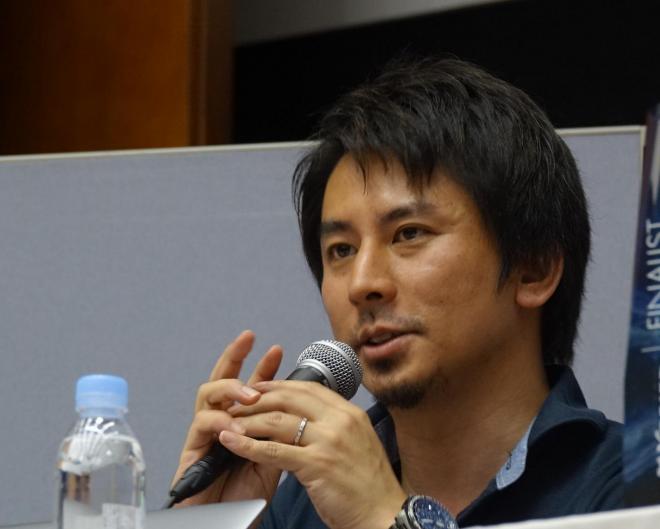 次の月探査計画について話す中村貴裕さん
