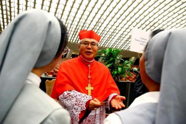 日本人6人目の枢機卿に就任した前田万葉氏=2018年6月28日、バチカン