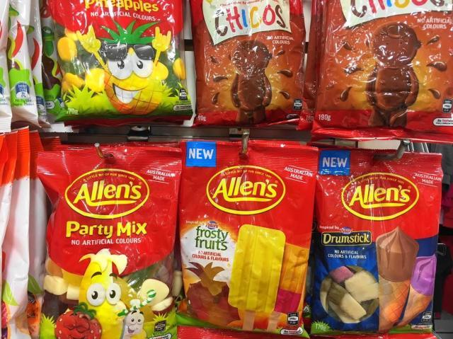 オーストラリアのグミキャンデー「アレンズ」