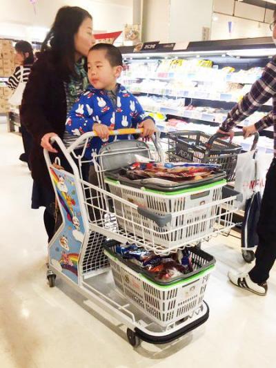買い物かごを乗せるスペースも確保しています