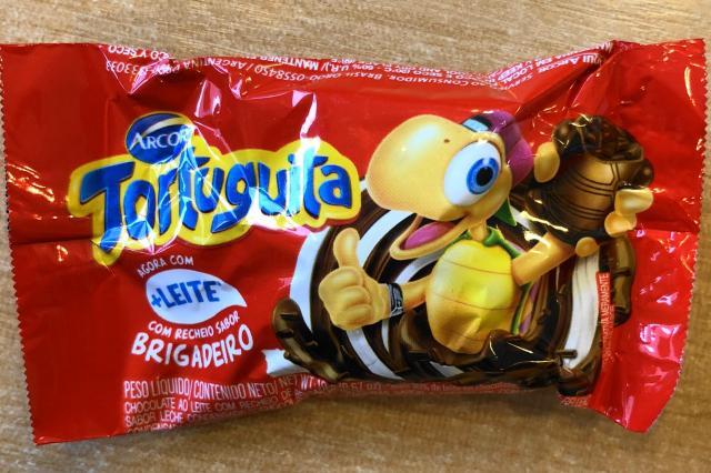 ブラジルのチョコ「Tortuguita」のパッケージ