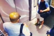 金正男氏(左)は殺害される4日前の2017年2月9日、マレーシア北部のリゾート「ランカウイ島」で、ある人物(右上)と接触していた=関係者提供