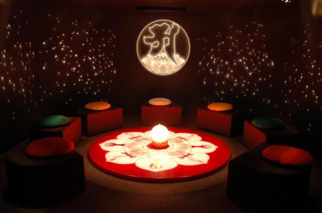 キャンパス内に設けられた瞑想室