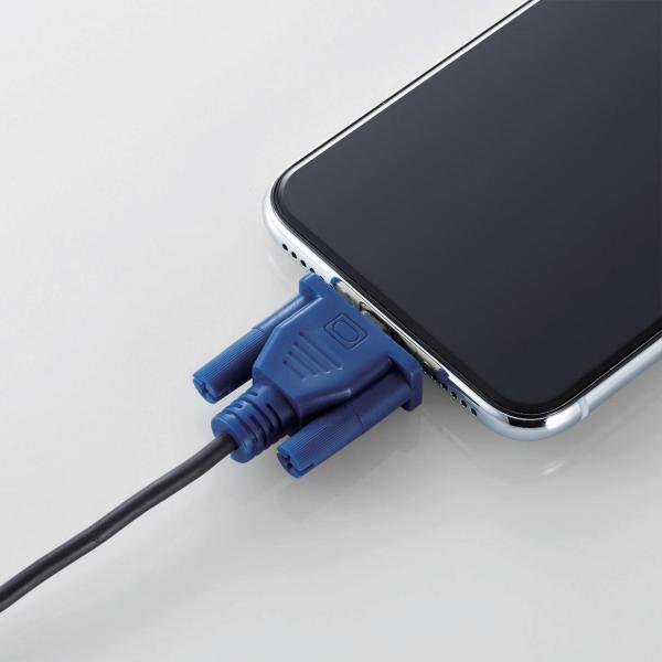 Ligtningケーブルのコネクタを保護するケーブルフィギュア。こちらはD-Subタイプ