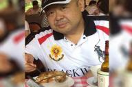 2015年、マカオで食事する金正男氏=関係者提供