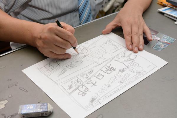 岡本光治さんに描いてもらったデッサン