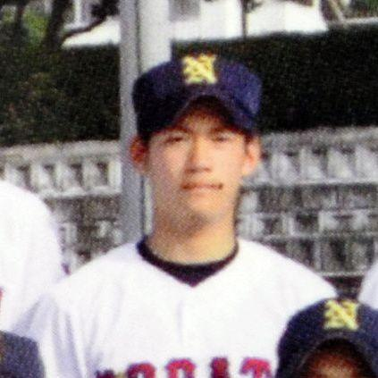 高校野球をしていた当時の飯野祐平整備士